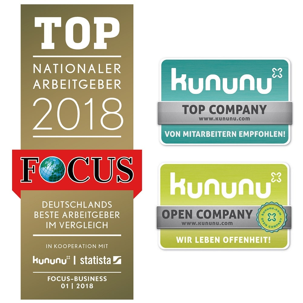 Logos Focus Money und Kununu
